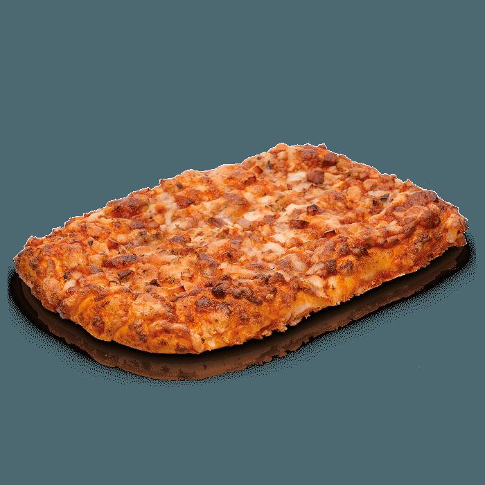 Pizza cuadrada barbacoa