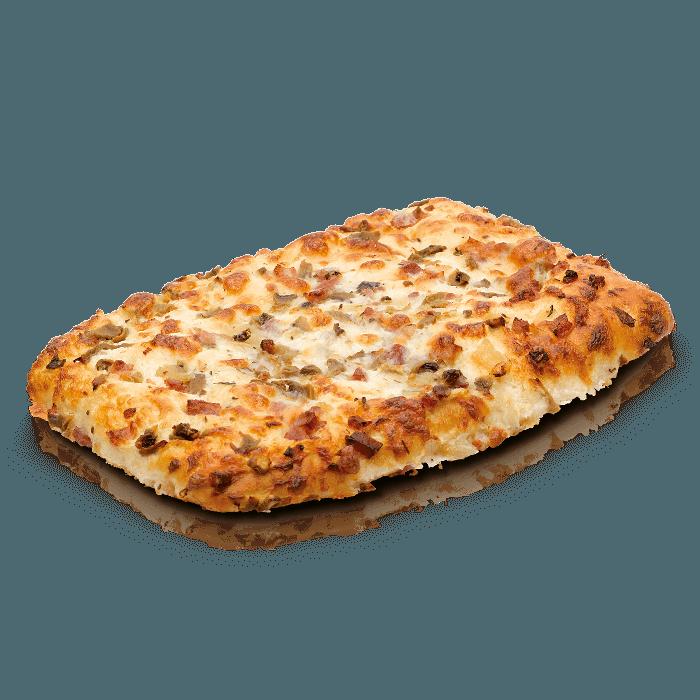 Pizza cuadrada carbonara