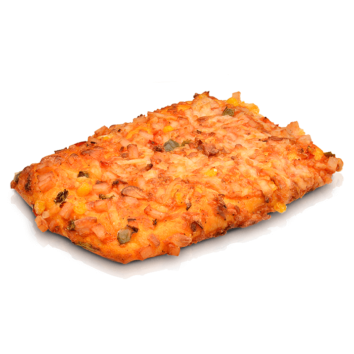 Pizza cuadrada mexicana