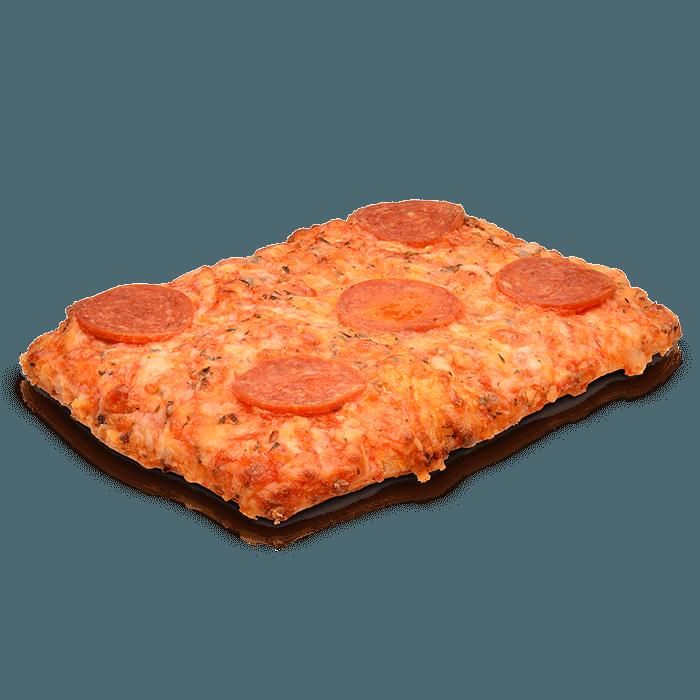 Pizza cuadrada peperoni